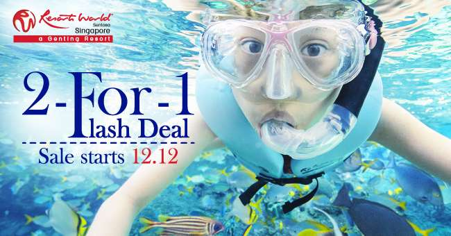 Buy 2 tickets for the price of 1 to Adventure Cove Waterpark or S.E.A. Aquarium!