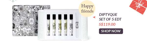 Shop Now: Diptyque Set of 5 EDT S$119.00