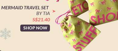 Shop Now: Mermaid Travel Set By TIA S$24.40
