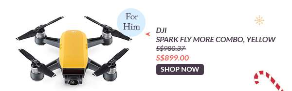 Shop Now: DJI Spark Fly More Combo, Yellow S$899.00