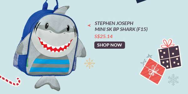 Shop Now: Stephen Joseph Mini SK BP Shark (F15) S$25.14