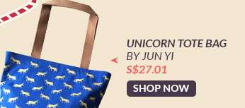 Shop Now: Unicorn Tote Bag By Jun Yi S$27.01