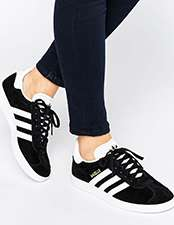 adidas Originals Black Suede Gazelle Trainers
