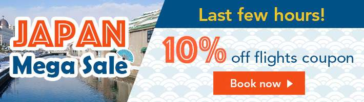 Last few hours! 10% off flights coupon!