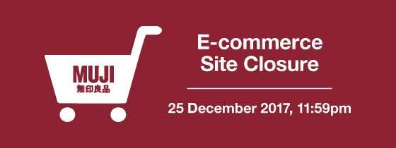 MUJI Singapore E-commerce Site Closure
