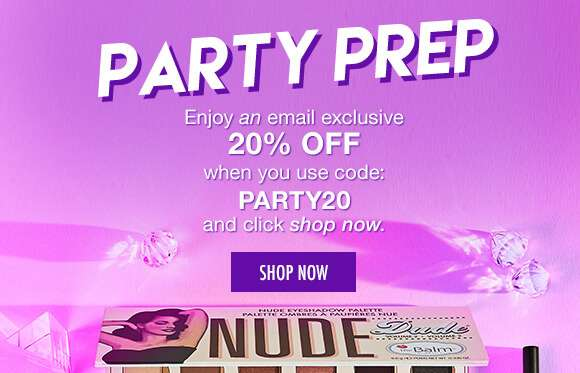 Party Prep | Enjoy an email exclusive 20% Off when you use code PARTY20 and click shop now below. SHOP NOW