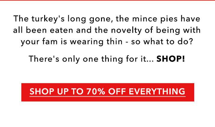 Up to 70% off everything - Shop now