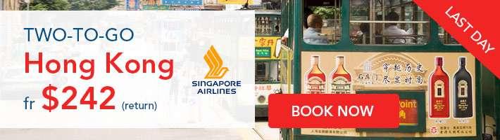2-to-go! Hong Kong fr $242