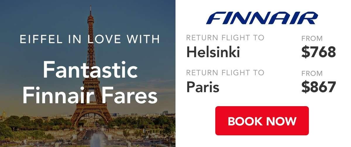 Eiffel in love with Fanntastic Finnair Fares!