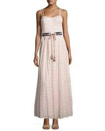 French Connection Bacongo Dot Maxi Dress, Black/White