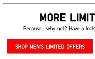 Shop Men's Limited Offers