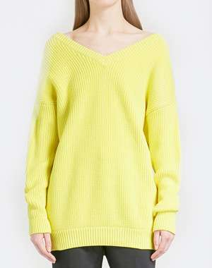Balenciaga V-neck cotton-blend jumper
