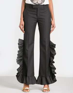 Gucci Ruffled high-rise trousers