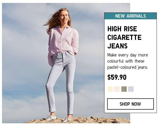Shop Women's High Rise Cigarette Jeans