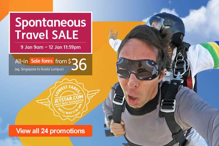 Spontaneous Travel Sale