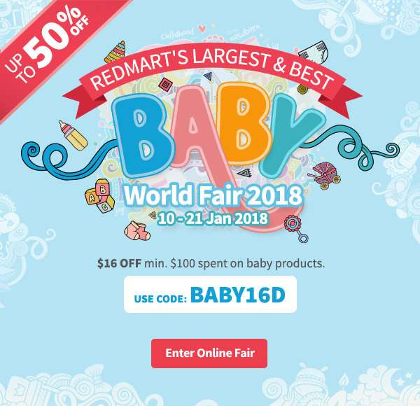 Up to 50% OFF in our largest Baby World Fair 2018! Use code BWF15 to get $15OFF with minimum $150 spent on baby products.