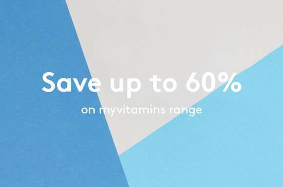 Save up to 60% on the myvitamins range!
