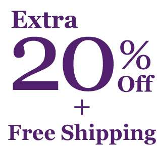 Get Extra 20% Off + Free Shipping! You've scored our top-secret deal! Offer ends 14 Jan 2018.