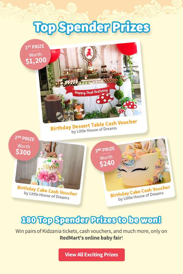 Also, WIN our top spender prizes, with our grand prize worth $1200!