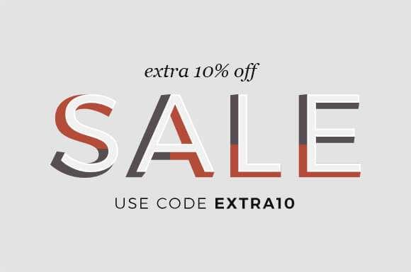 Extra 10% off SALE enter code EXTRA10