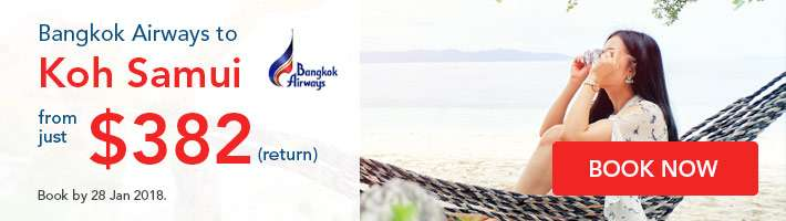 Bangkok Airways to Koh Samui fr $380