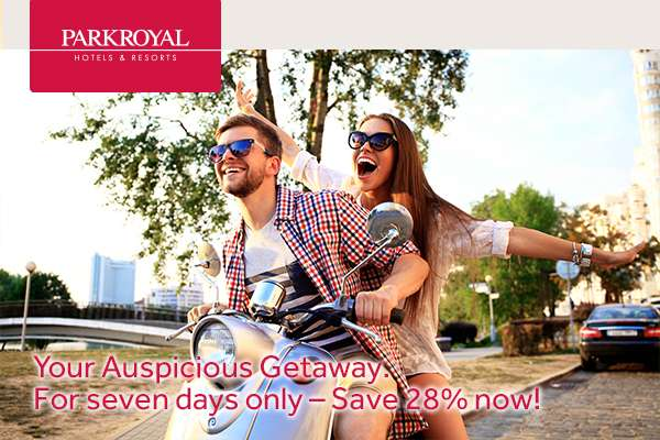 Your Auspicious Getaway. For seven days only – Save 28% now!