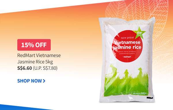 15% OFF RedMart Label Vietnamese Jasmine Rice 5kg