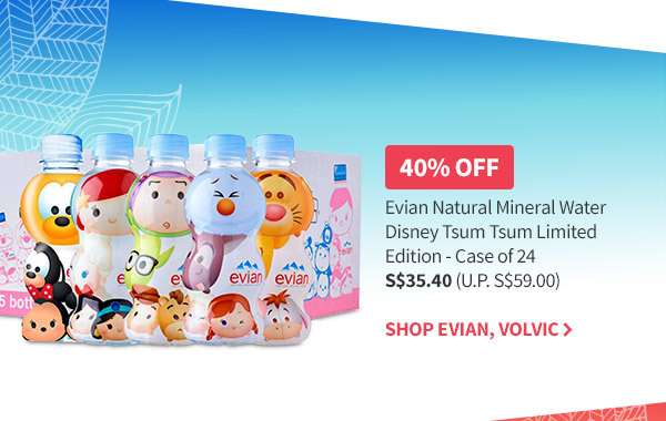 Evian up to 40% OFF! Shop all Evian and Volvic Best Deals in Town here!