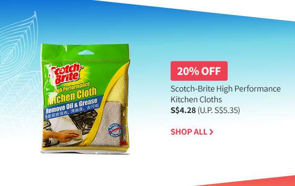 20% OFF Scotch Brite 3M sponges and scourers. Shop all participating products now!