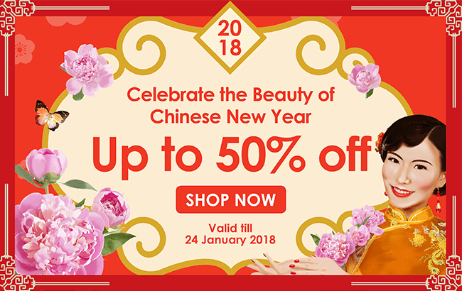 Celebrate the beauty of Chinese New Year up to 50% off!