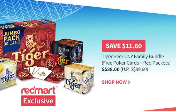 Tiger Beer Family Bundle at $88! Save $11.60 in our Best Deal in Town...