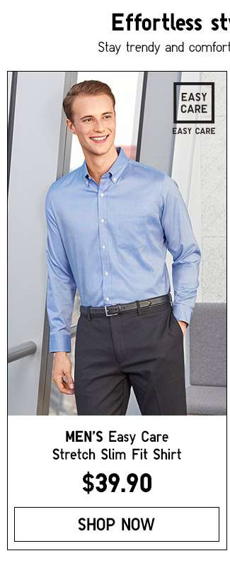 Shop Men's Easy Care Slim Fit Shirt