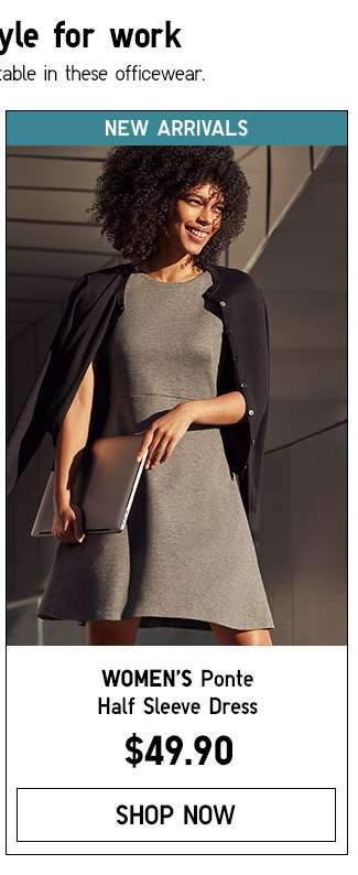 Shop Women's New Ponte Dress
