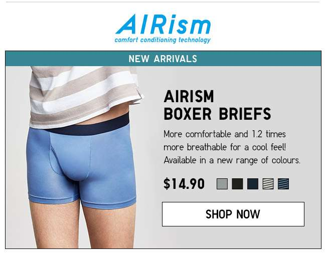 Shop Men's AIRism Boxer Briefs