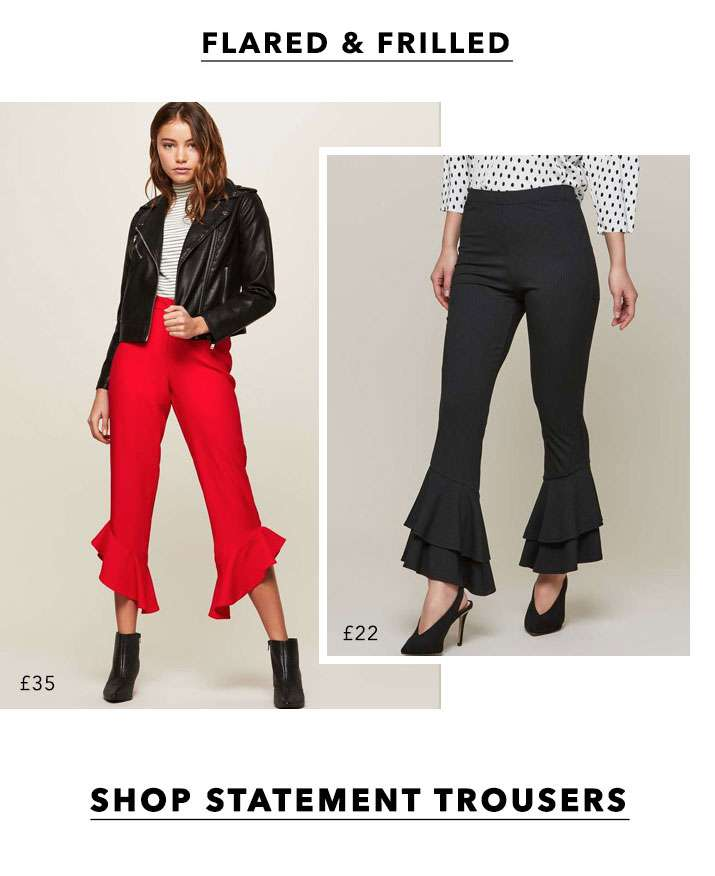 Flared & Frilled - Shop Statement Trousers