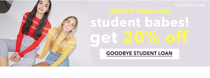 Student Babes! Get 20% Off - Goodbye Student Loan