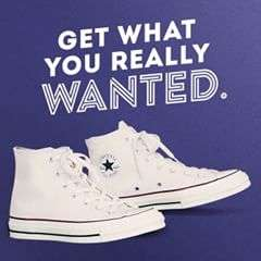 Didn't get what you want? Hit up Converse.com and get what you really wanted.