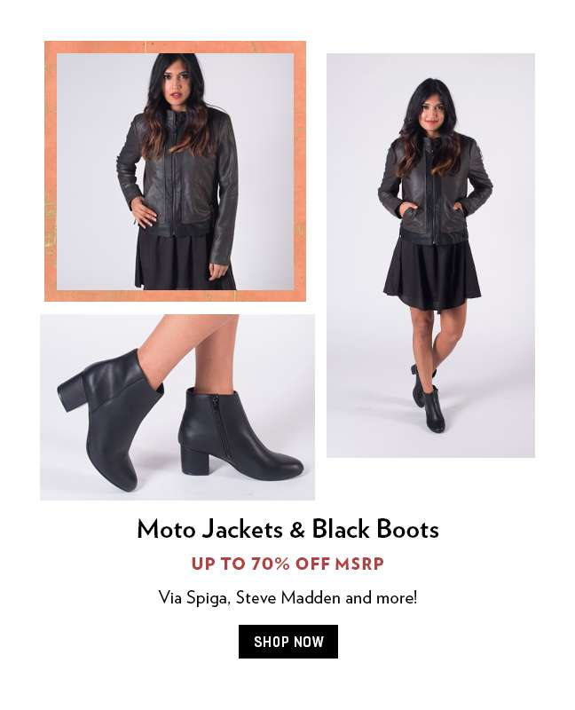 Leather Jackets & Boots