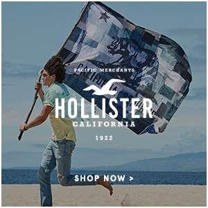 Hollister. shop now.