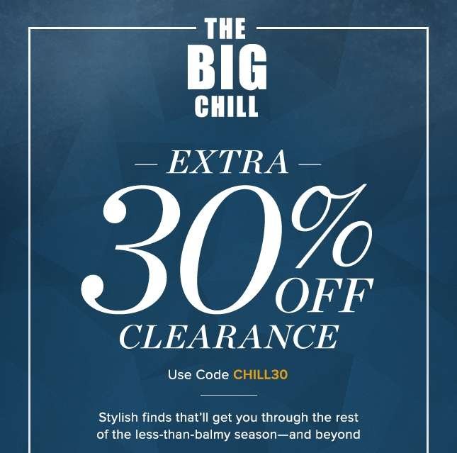 Use Code CHILL30