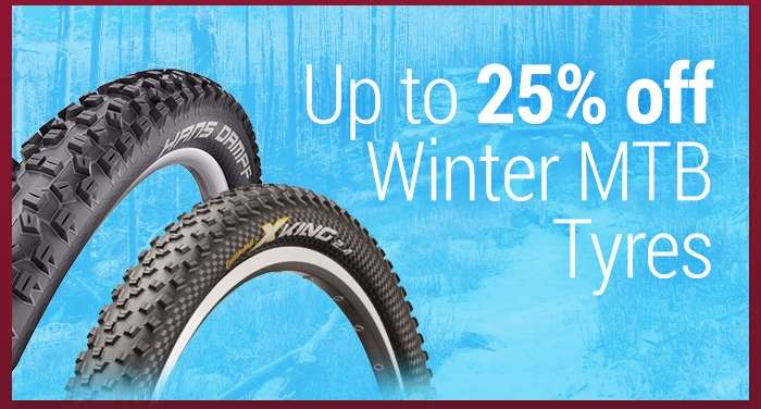Up to 25% off Winter MTB Tyres