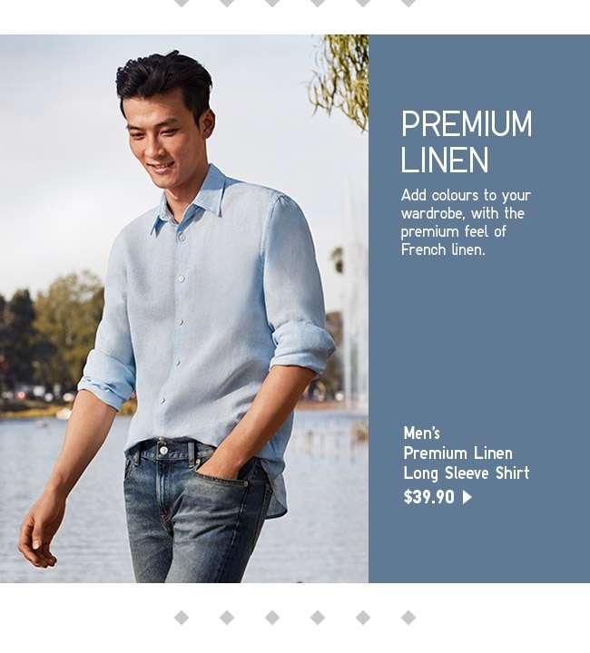 Shop Men's Premium Linen Long Sleeve Shirt at $39.90