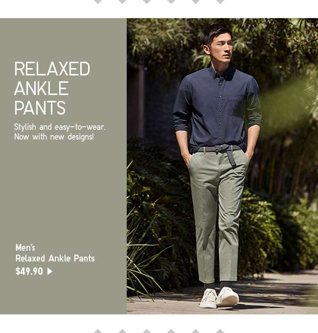 Shop Men's Relaxed Ankle Length Pants at $49.90