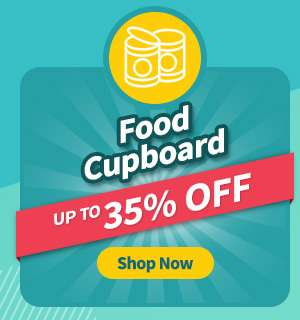 Food cupboard items at up to 35% OFF!