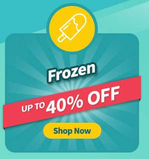 Frozen items at up to 40% OFF!