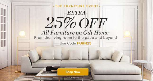 Extra 25% Off All Furniture
