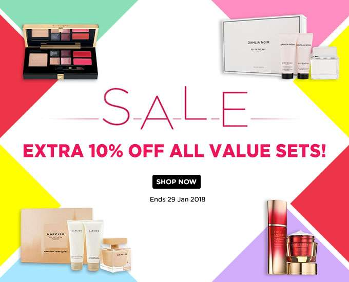 Extra 10% Off All Value Sets! Ends 29 Jan 2018