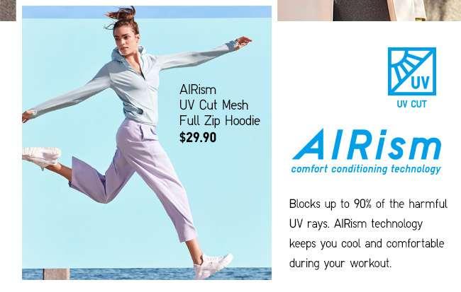 Shop Women's AIRism UV Cut Mesh Hoodie