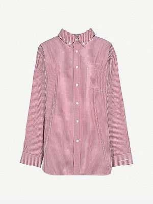 BALENCIAGA - Loose-fit striped cotton shirt