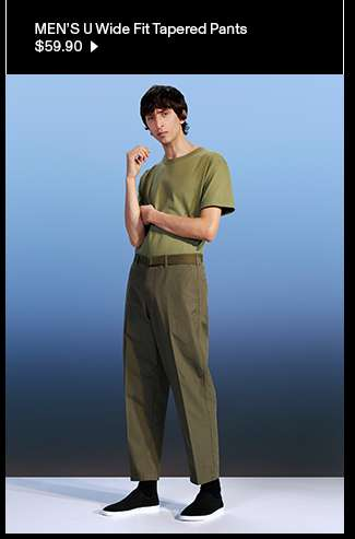 Men's U Wide Fit Tapered Pants at $59.90
